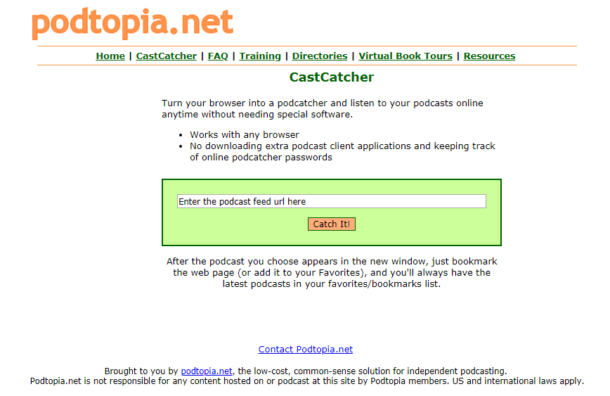 Podtopia cast catcher screenshot